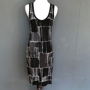 Banana Republic Black Color Block Dress - Medium